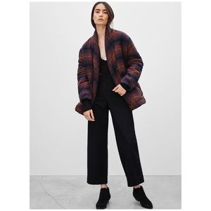 Aritzia Wilfred Waleska Duvet Plush Plaid Jacket